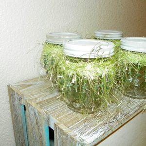 4 Wedding Glass Table Decor Party Favor Green Bead
